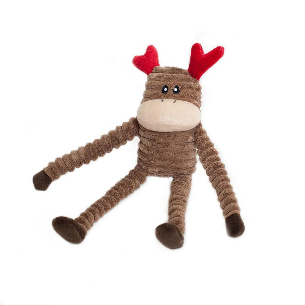 Zippy Paws Holiday Crinkle - Reindeer Small