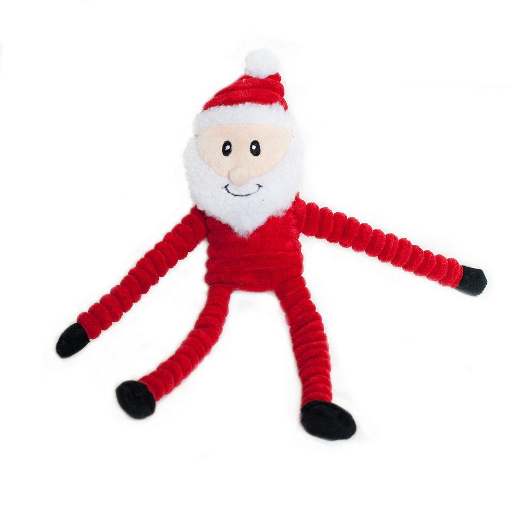 Zippy Paws Holiday Crinkle - Santa Small