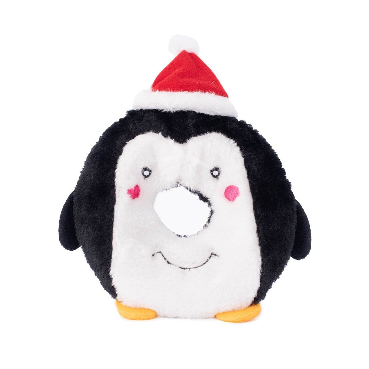 Zippy Paws Holiday Donutz Buddies - Penguin Dog Toys