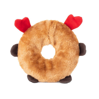 Zippy Paws Holiday Donutz Buddies - Reindeer Dog Toys