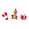 Zippy Paws Holiday Miniz 3-Pack Festive Friends Dog Toys