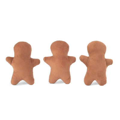 Zippy Paws Holiday Miniz 3-Pack Gingerbread Men Dog Toys