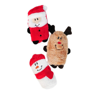 Zippy Paws Holiday Squeakie Buddies - Pack of 3