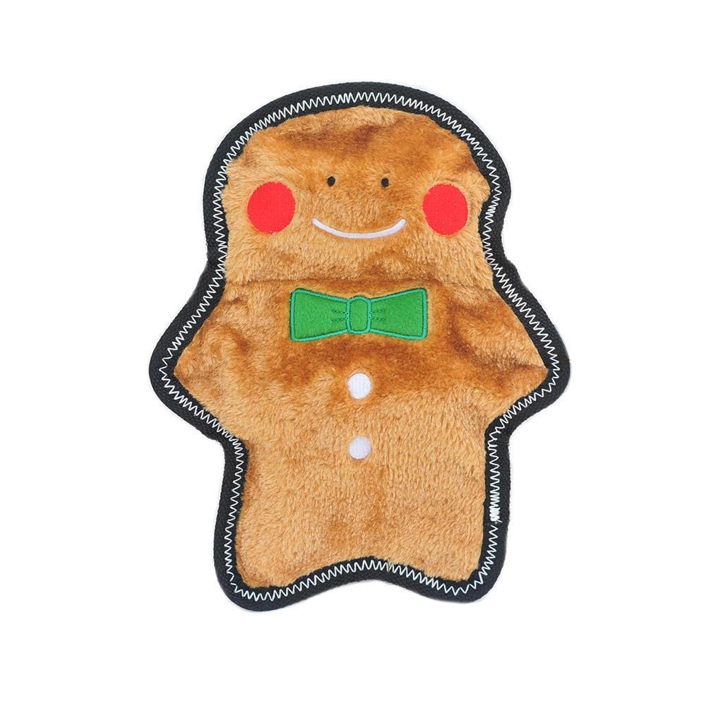 Zippy Paws Holiday Z-Stitch® - Gingerbread Man Dog Toys