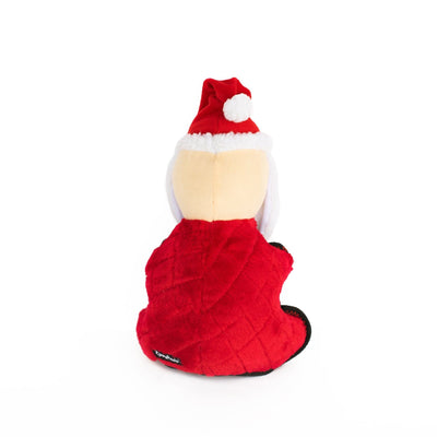 Zippy Paws Holiday Z-Stitch® Grunterz - Santa Dog Toys
