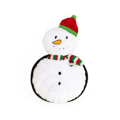 Zippy Paws Holiday Z-Stitch® Grunterz - Snowman Dog Toys