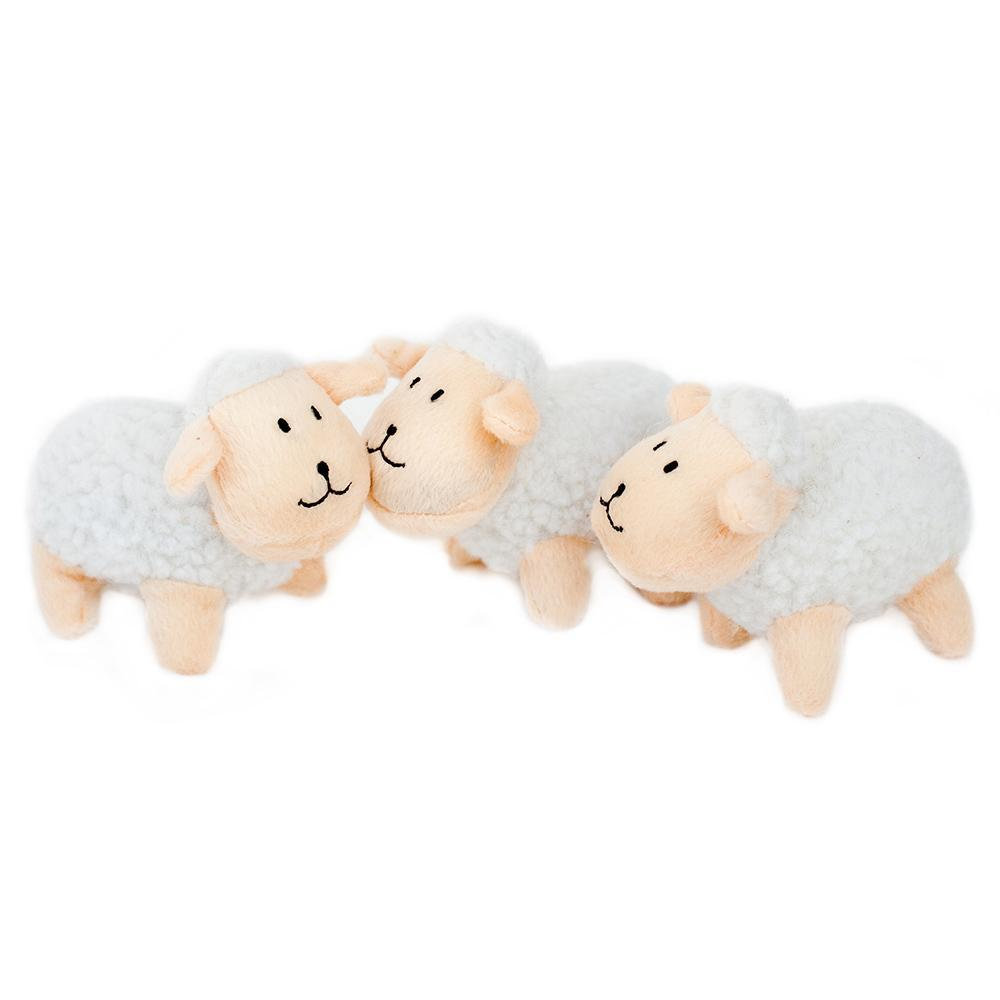 Zippy Paws Miniz 3-Pack Sheep