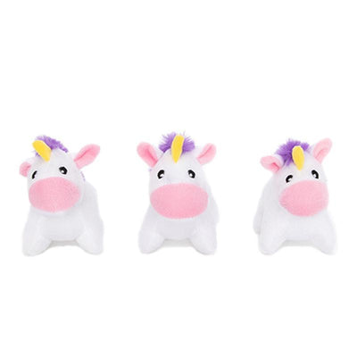 Zippy Paws Miniz 3-Pack Unicorns Dog Toys