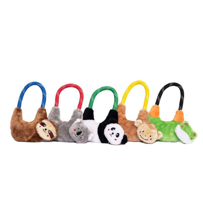 Zippy Paws RopeHangerz - Panda Dog Toys