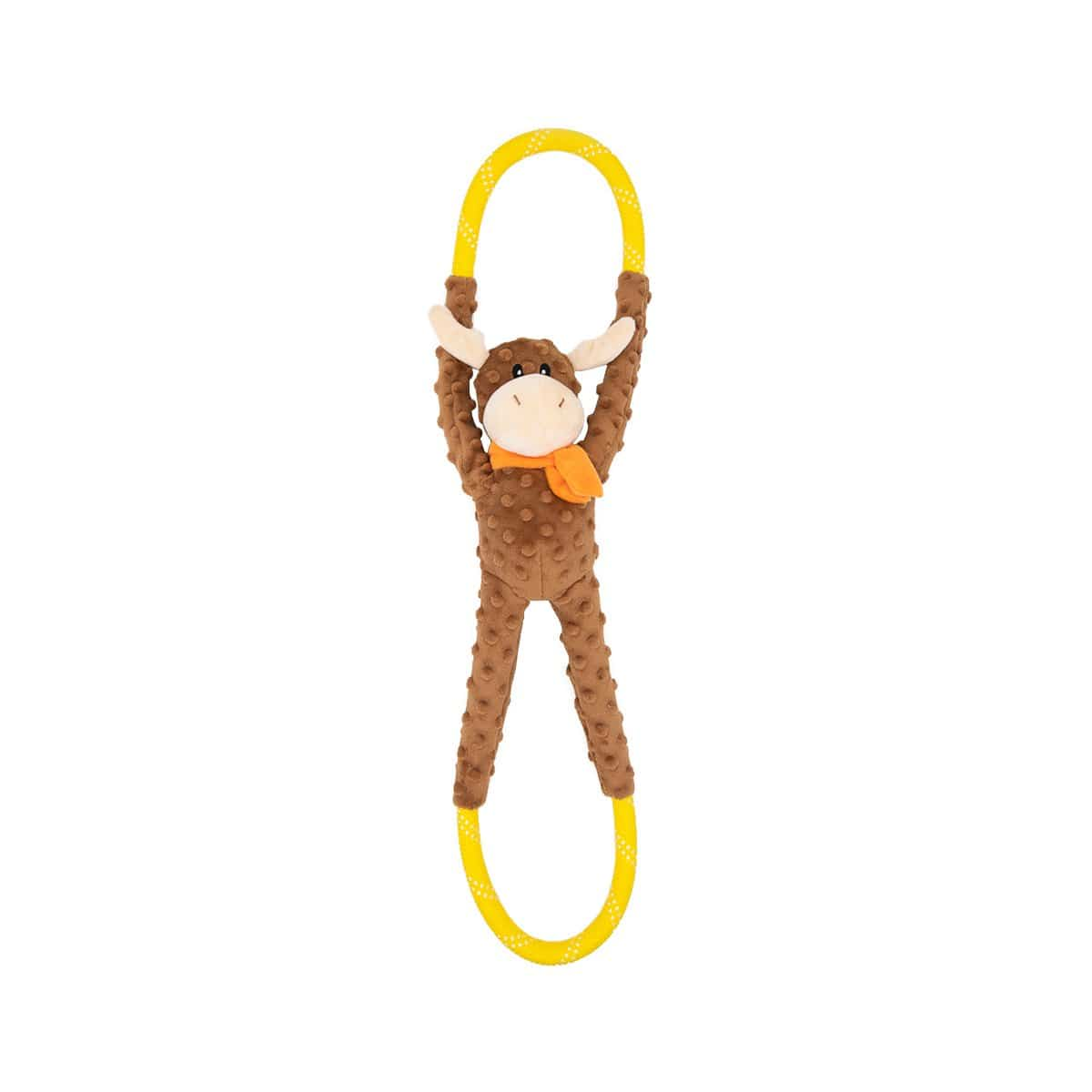 Zippy Paws RopeTugz® - Moose Dog Toys