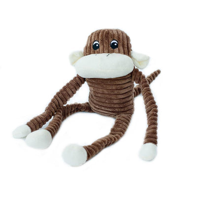 Zippy Paws Spencer the Crinkle Monkey - Large Brown
