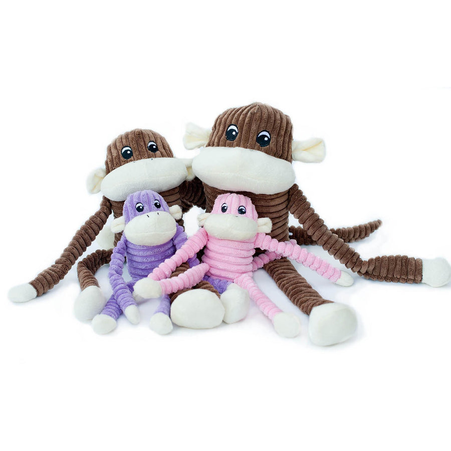 Zippy Paws Spencer the Crinkle Monkey - XL Brown