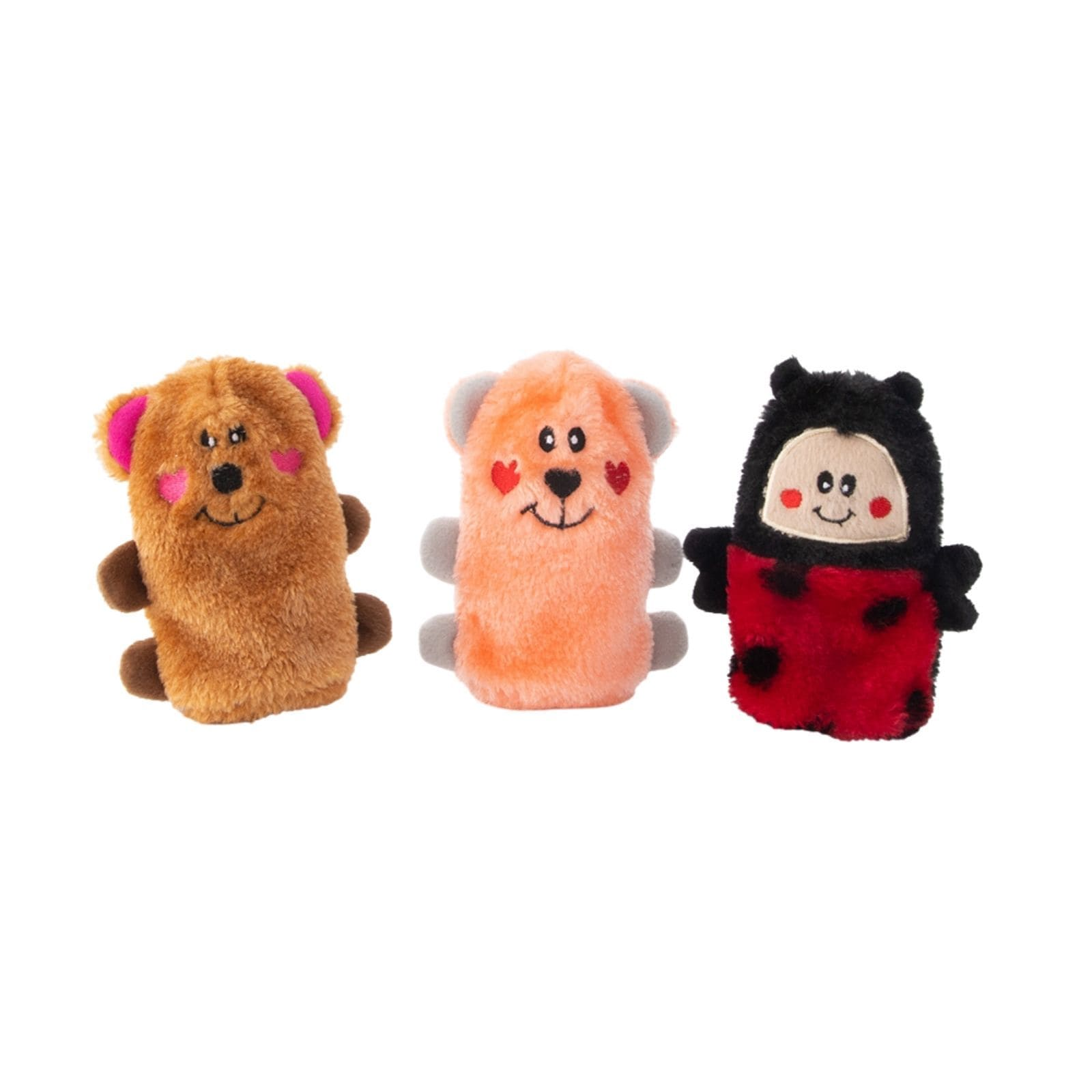 Zippy Paws Valentine's Squeakie Buddies - Pack of 3 Dog Toys