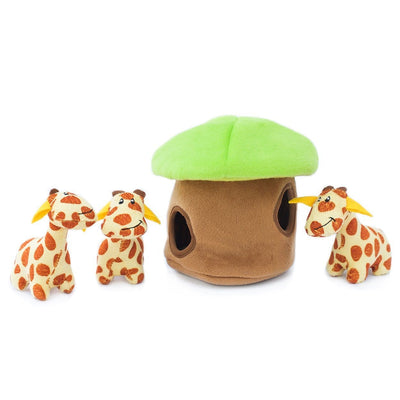 Zippy Paws Zippy Burrow - Giraffe Lodge