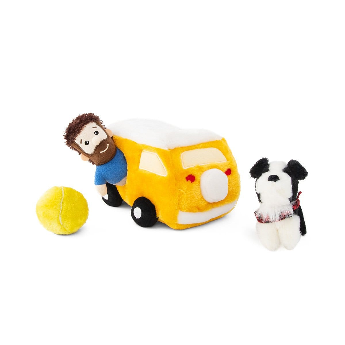 Zippy Paws Zippy Burrow - Momo & Andrew in the Yellow Van Dog Toys