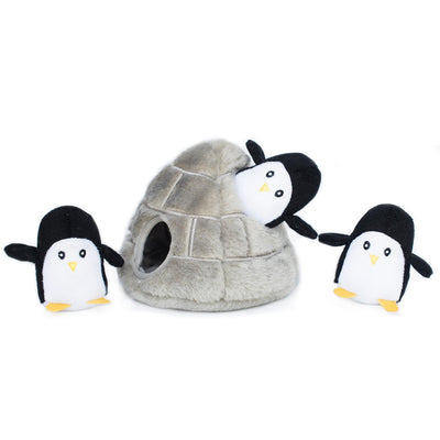 Zippy Paws Zippy Burrow - Penguin Cave Dog Toys