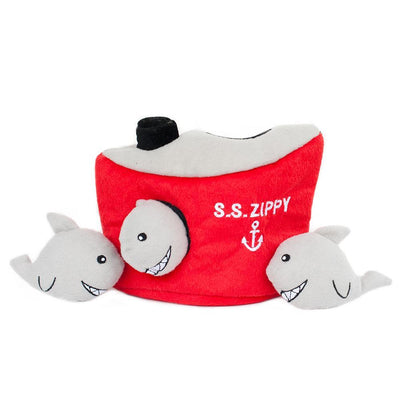 Zippy Paws Zippy Burrow - Shark 'n Ship
