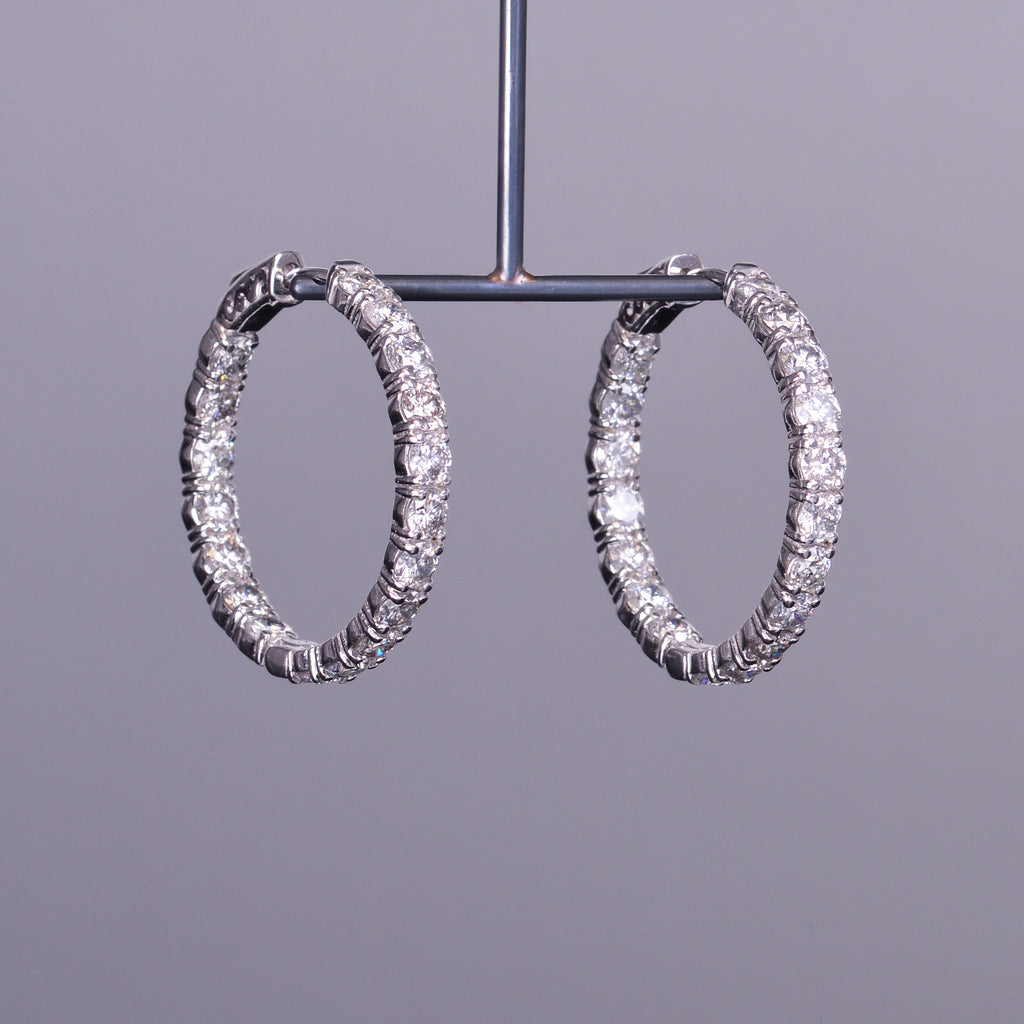 Inside and Out Diamond Hoops (Estate)