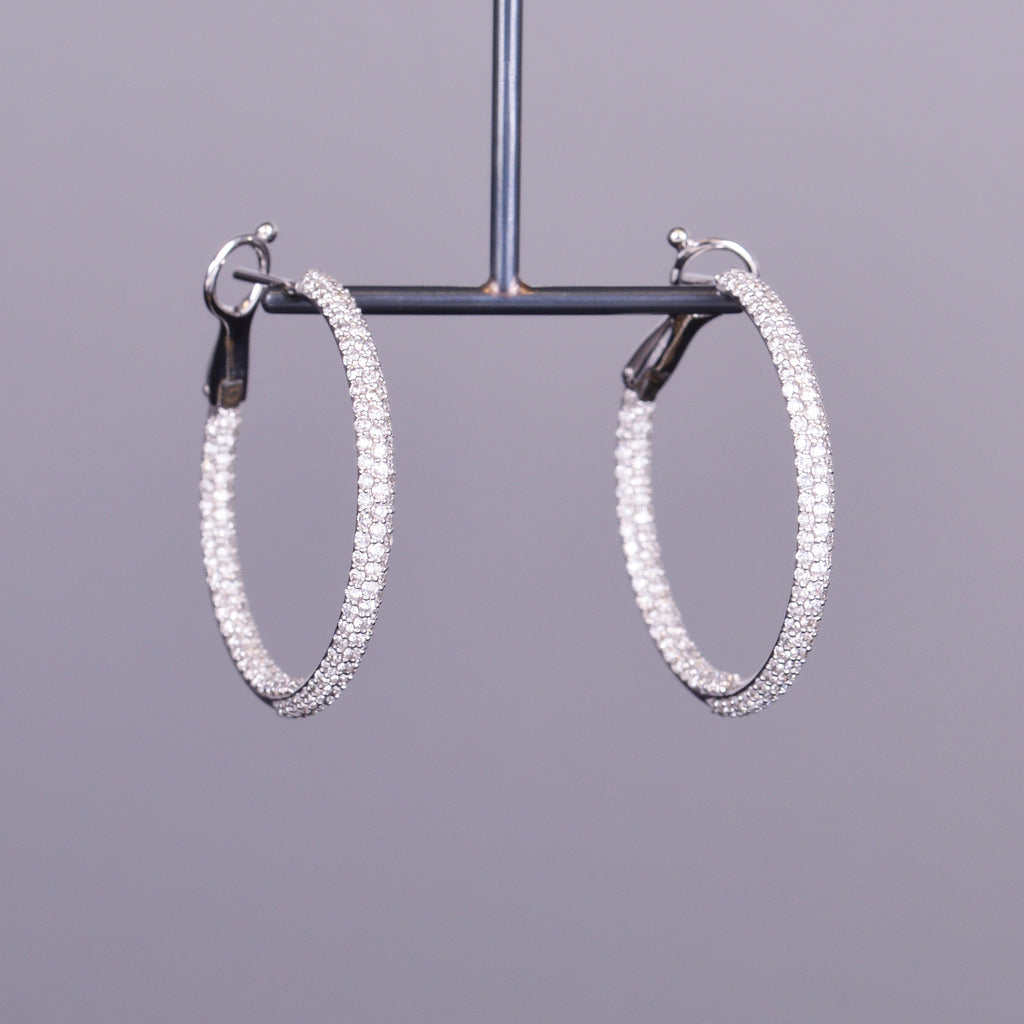 Lulu Diamond Hoops
