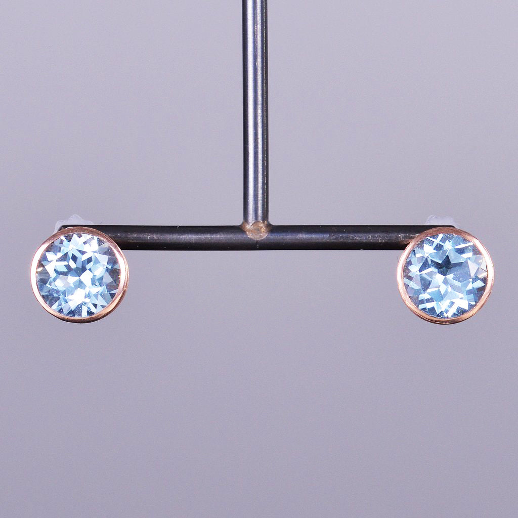 Aquamarine Libby Stud Earrings