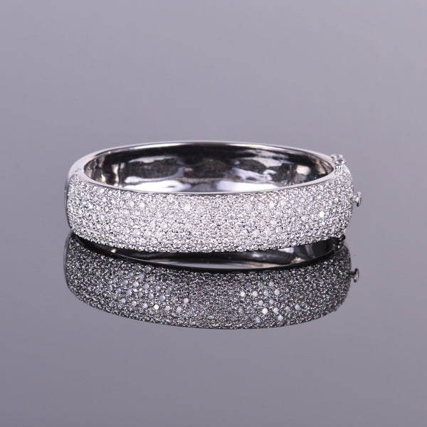 Diamond Pave Bangle Bracelet