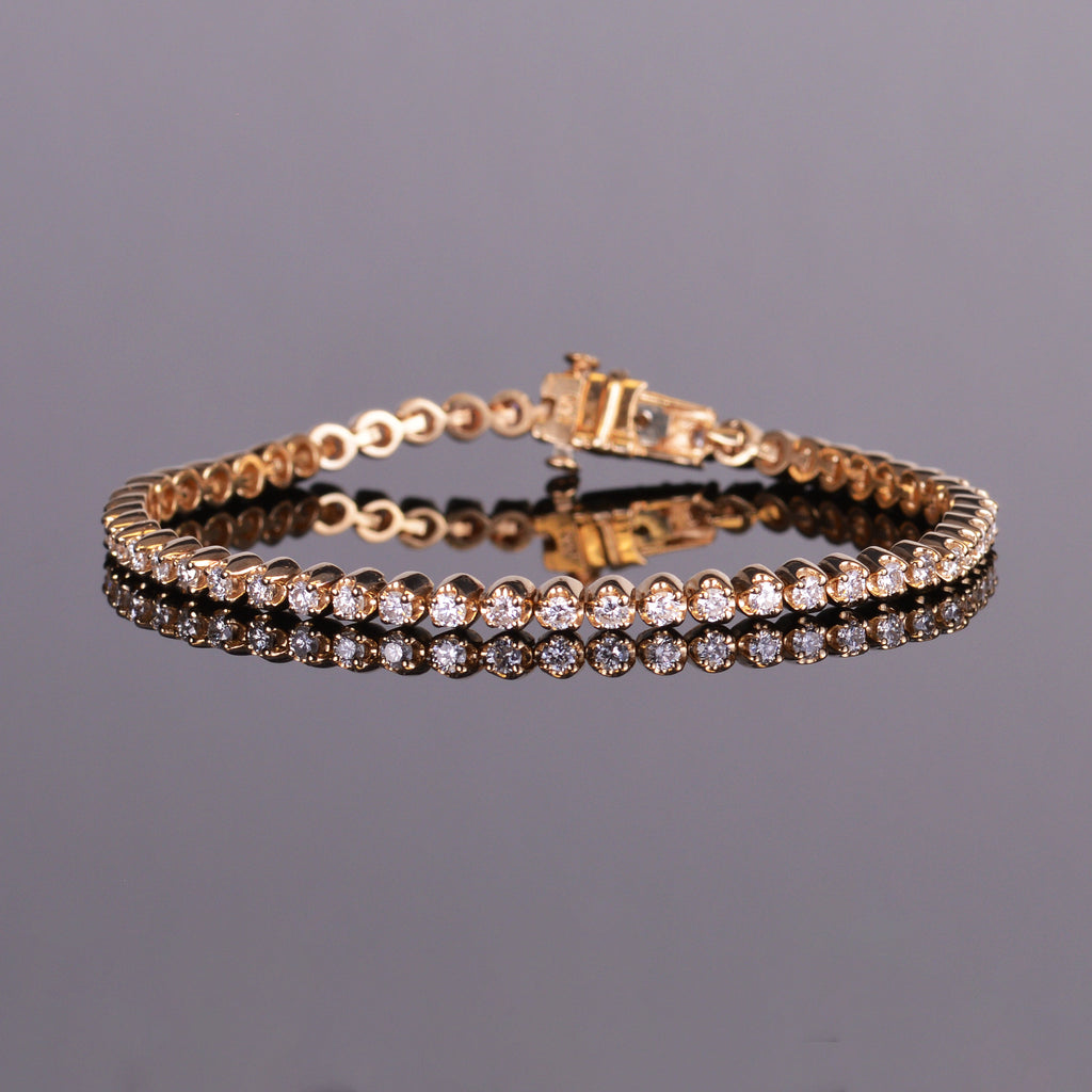 Diamond Scallop Link Bracelet