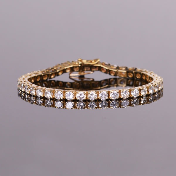 Diamond Bracelet in Yellow Gold (Estate)