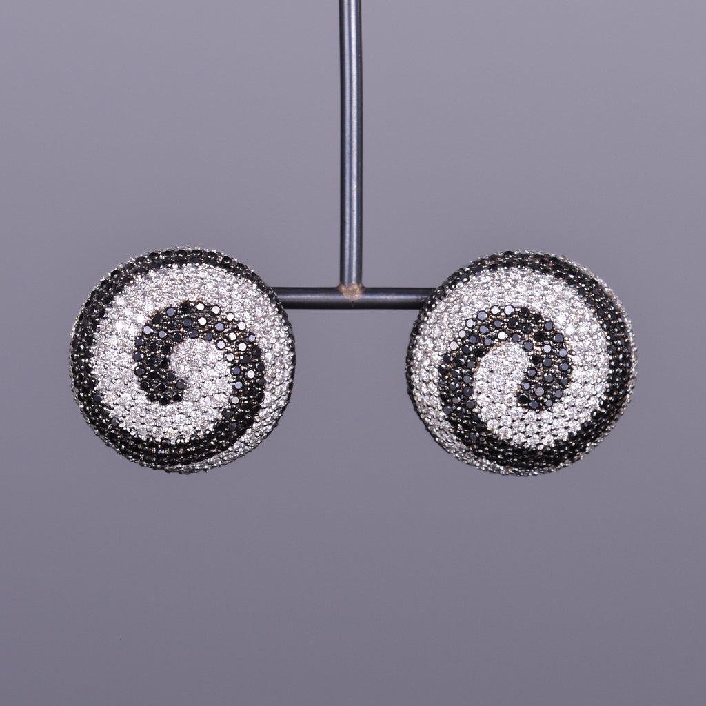 Esprit Collection Black and White Diamond Earrings