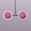 Diamond and Ruby Button Earrings