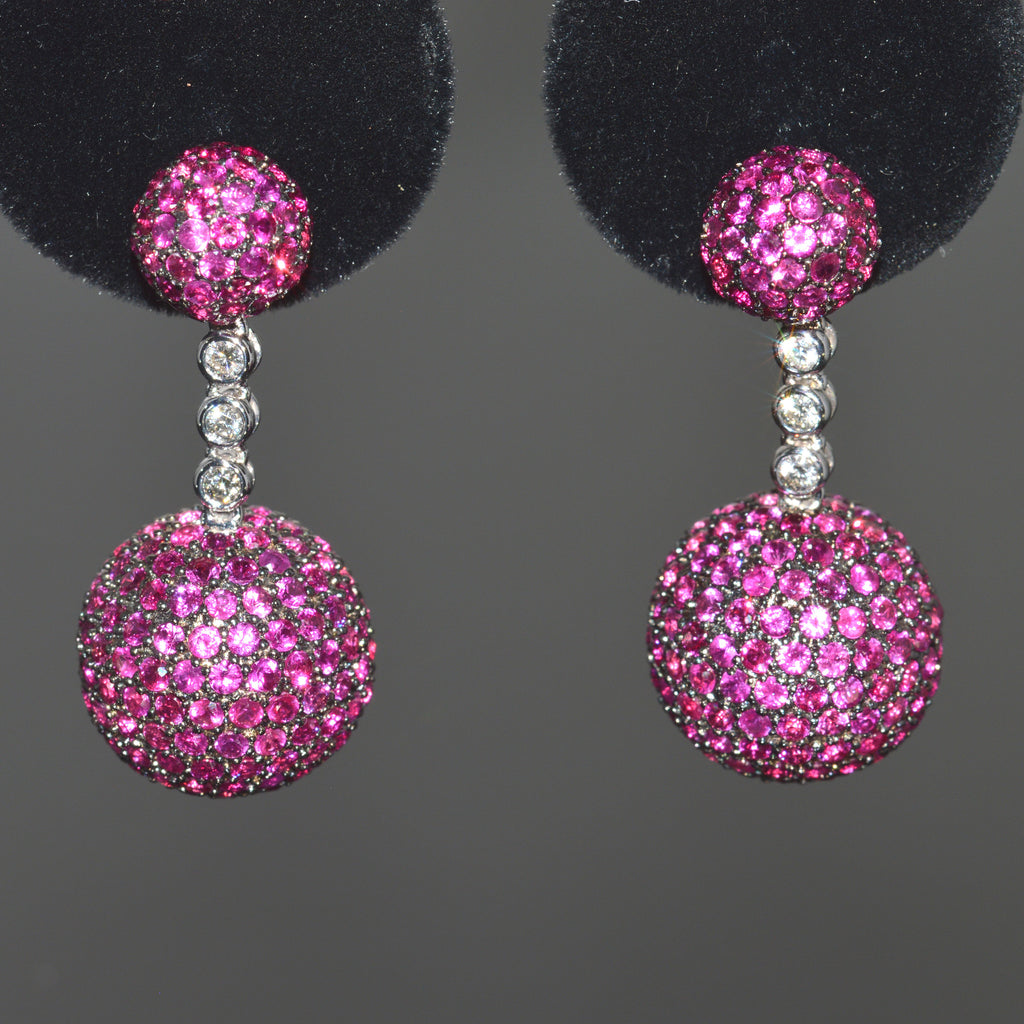 Ruby and Diamond LXV Ethereal Earrings