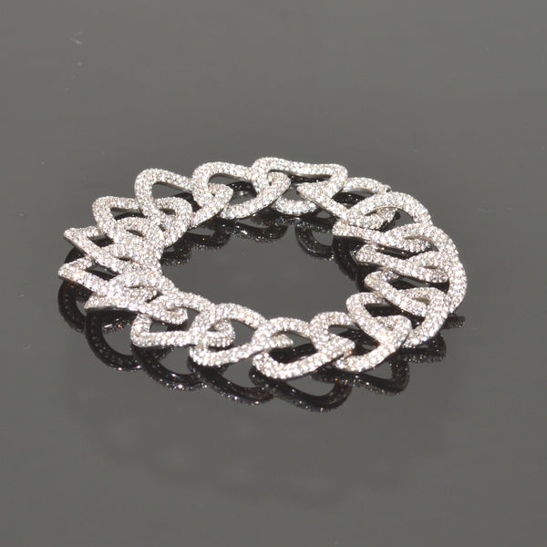 Interlocking Pave Circles Bracelet