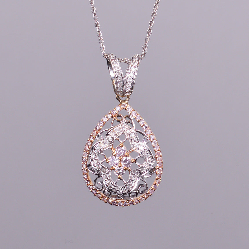 Pear Shaped Pendant with Diamonds