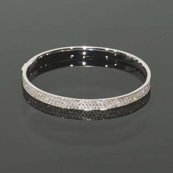 Pave Diamond XV Cuff Bangle Bracelet