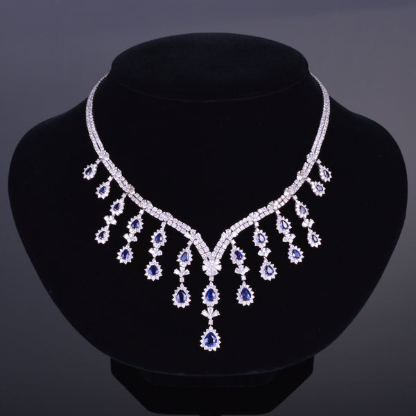 Diamond and Sapphire Royal Necklace