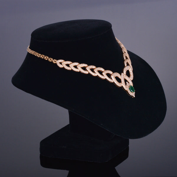 The Regal XV Emerald and Diamond Pave' Necklace