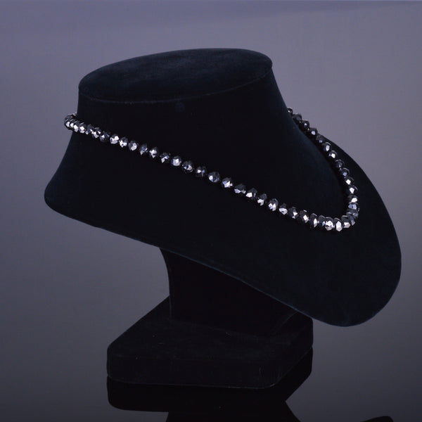 200 Carat XV Black Diamond Bead Necklace