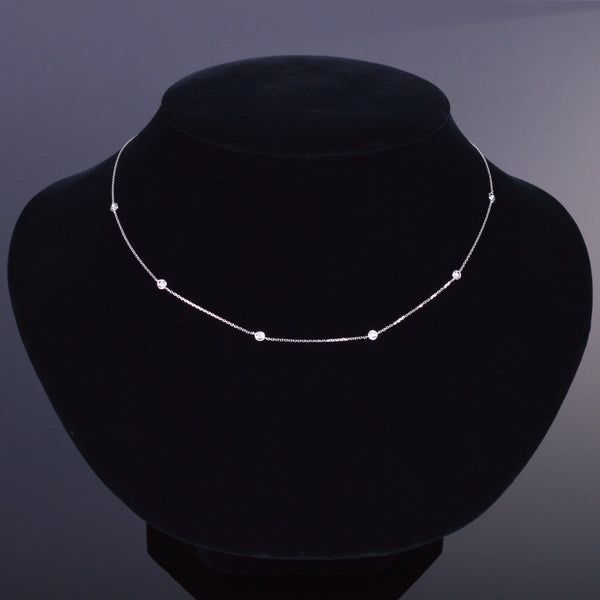 LXV Della Bezel Single Chain Diamond Necklace