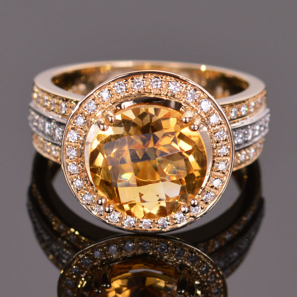 Cache Ring in Golden Citrine