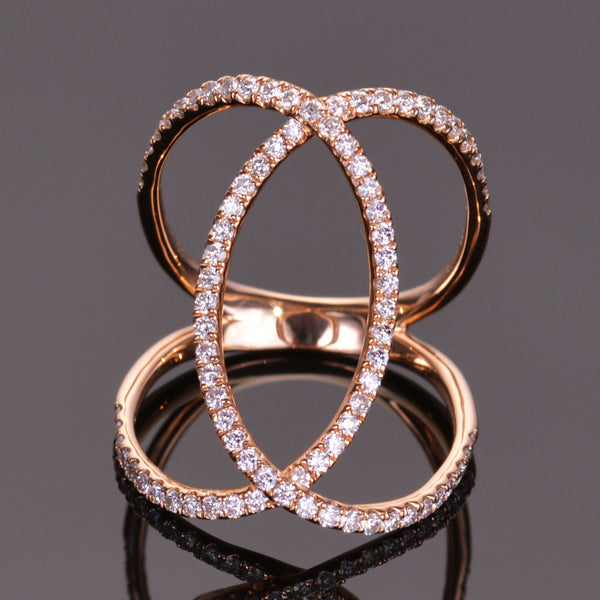 Rose Gold and Diamond XV Infinity Ring