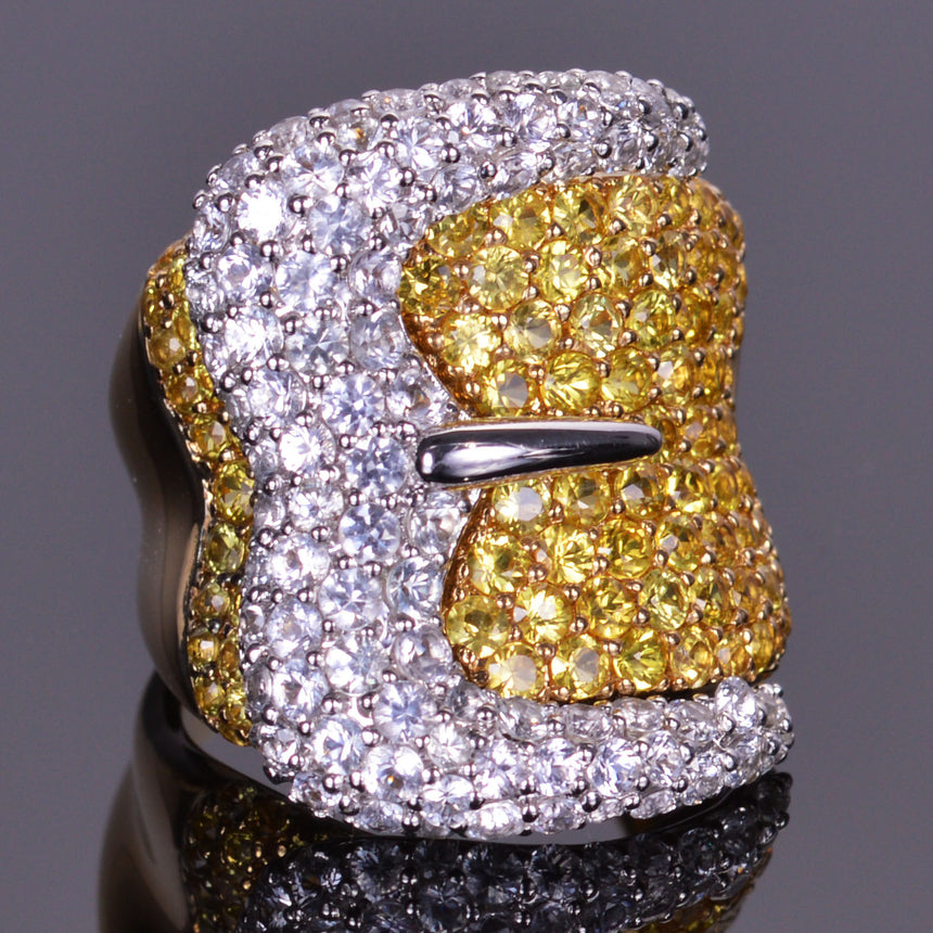 XV Belt Buckle Pave Ring