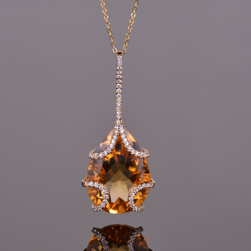 Golden Citrine Contessa Pendant