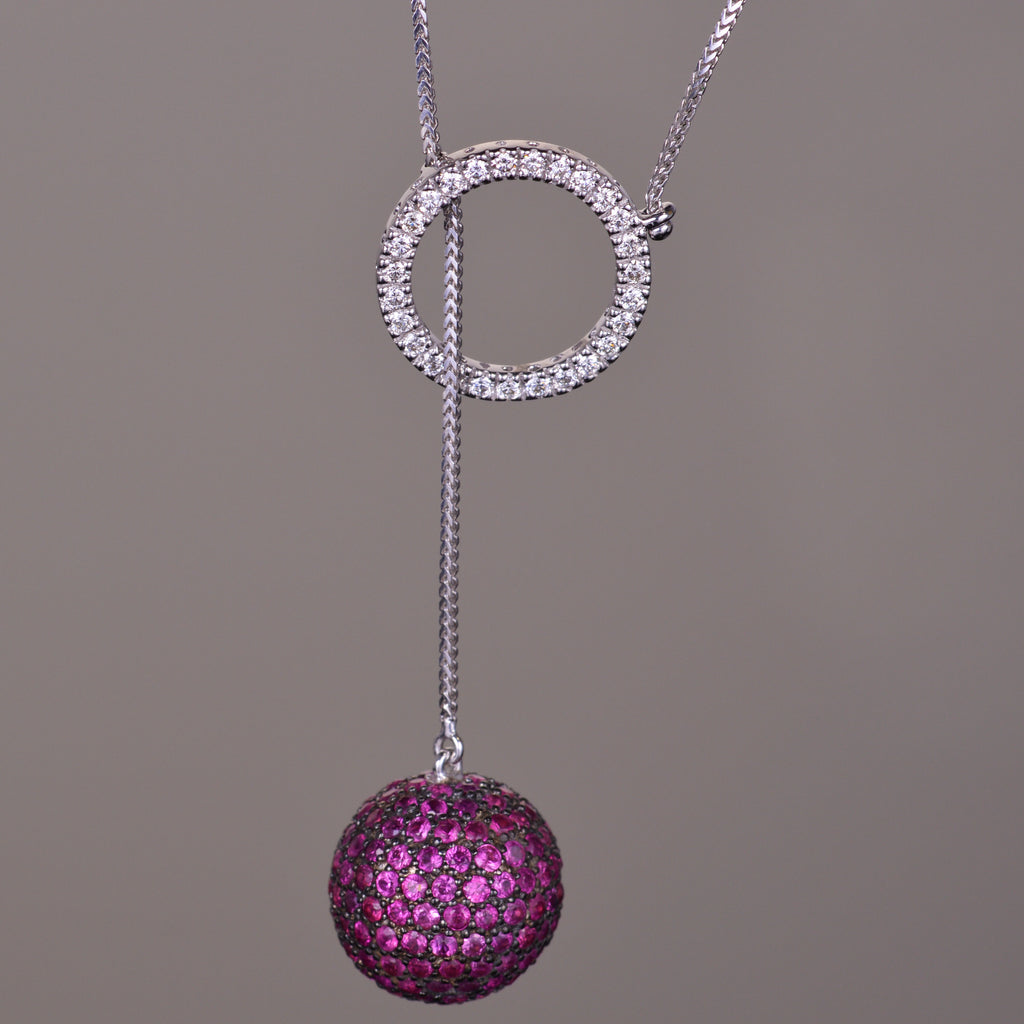 Diamond & Ruby Ethereal Pendant