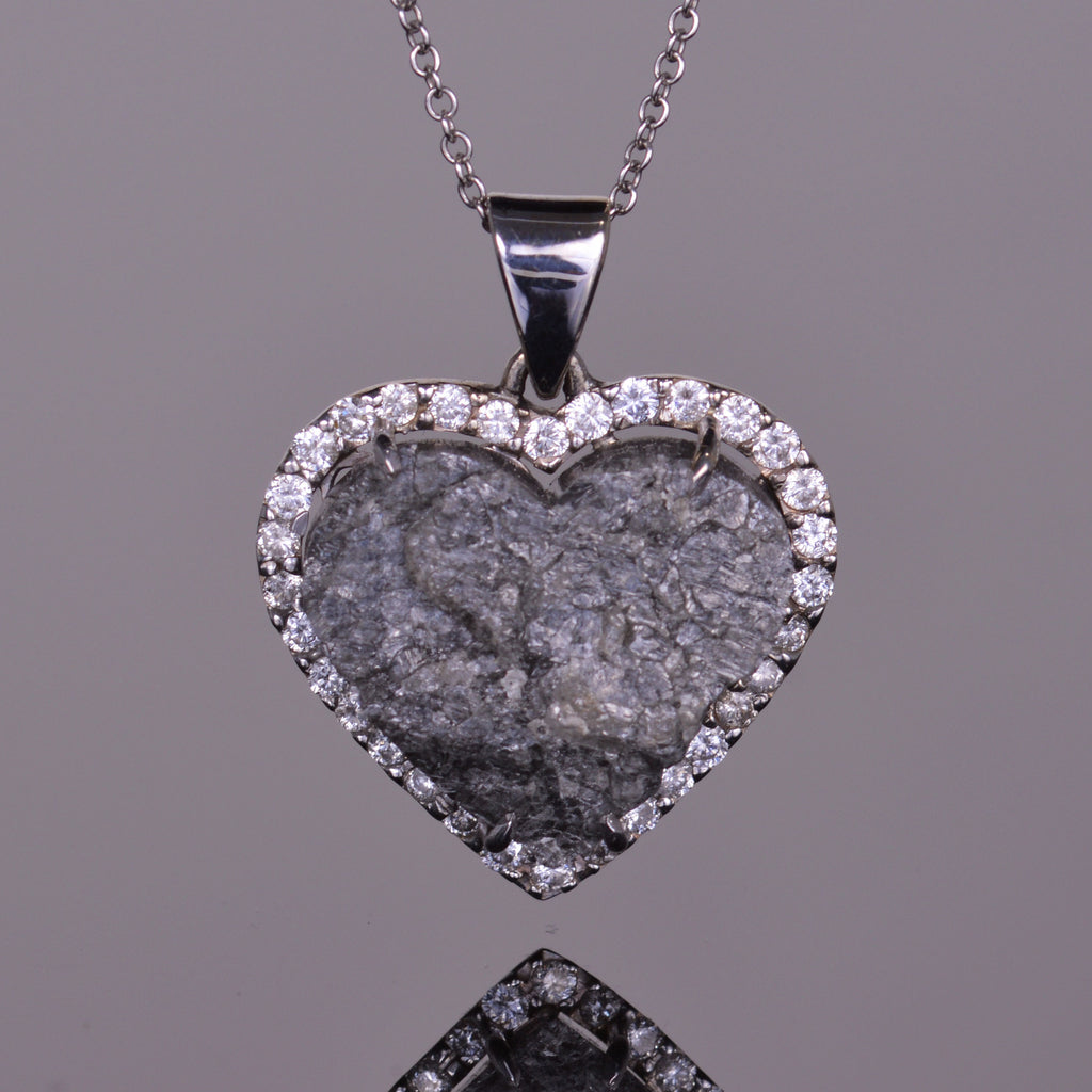 Rough Diamond Heart Pendant