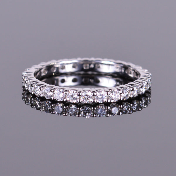 Diamond Eternity Stackable Band in White Gold