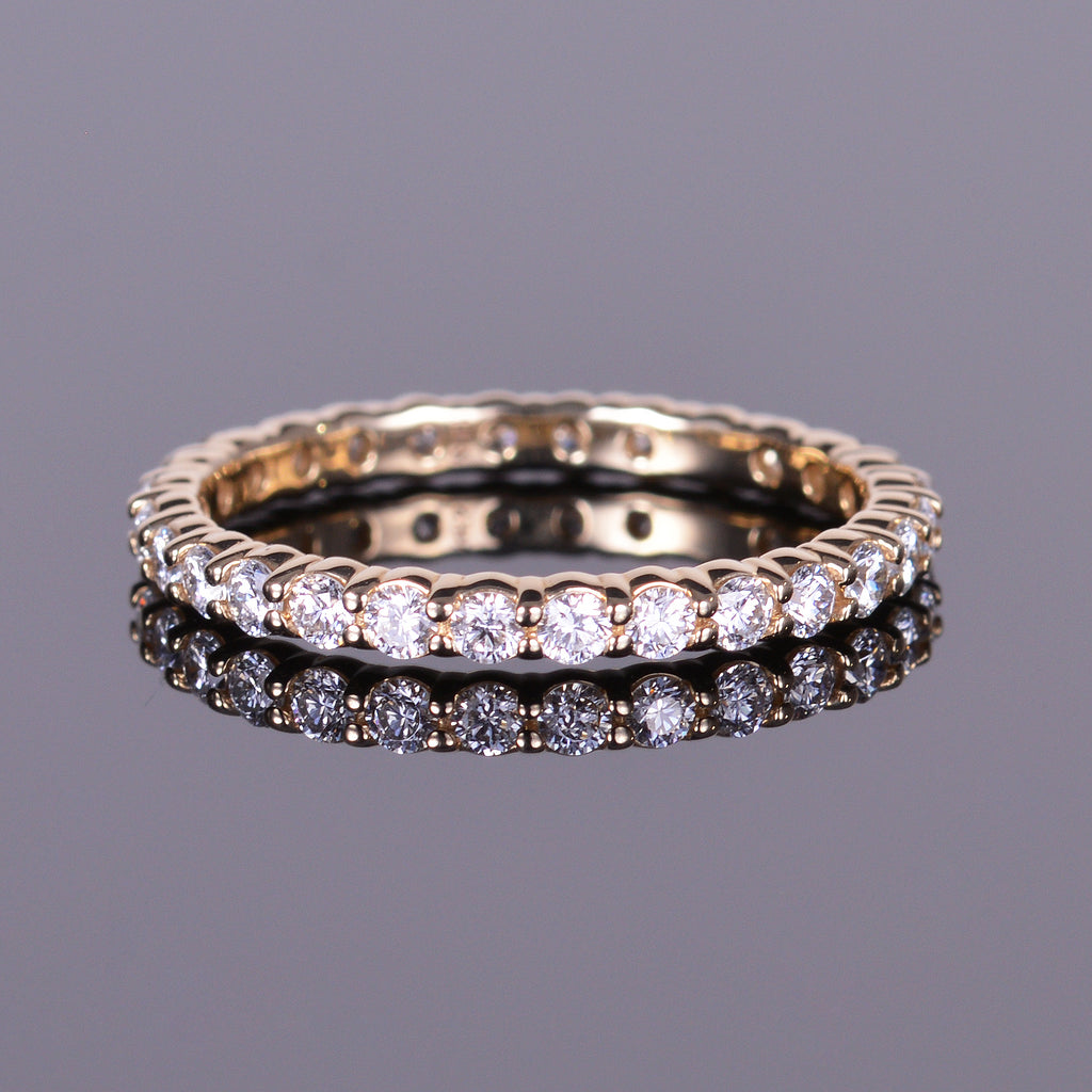 Diamond Eternity Stackable Band in Yellow Gold