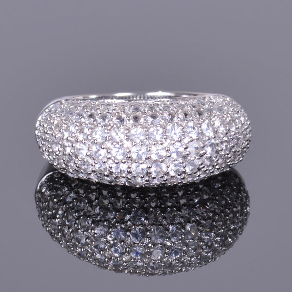 White Sapphire Pave Cocktail Ring