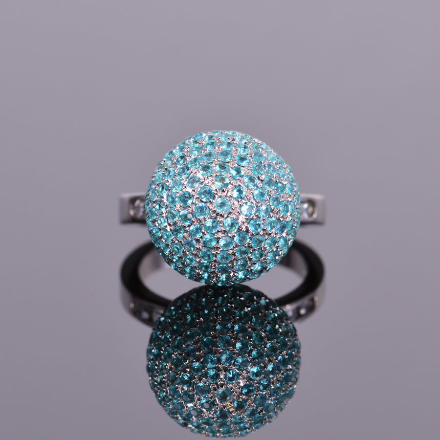 LXV Paraiba Tourmaline and Diamond Ethereal Ring