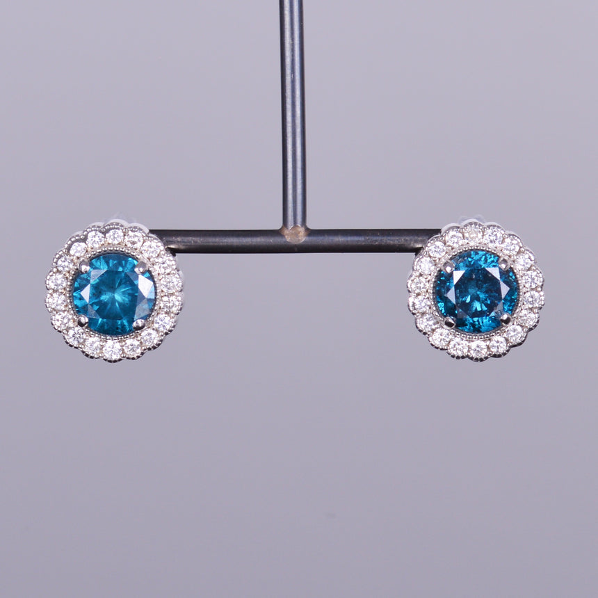 Diamante Azul Earrings