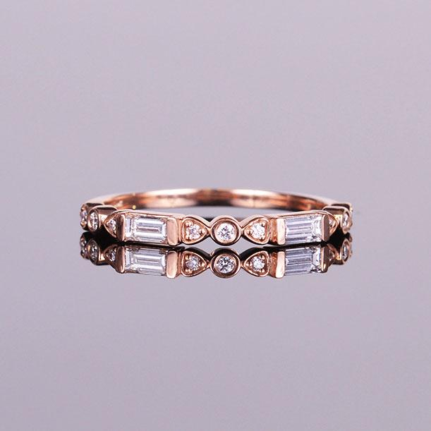 Diamond Anniversary Baguette Band Rose Gold