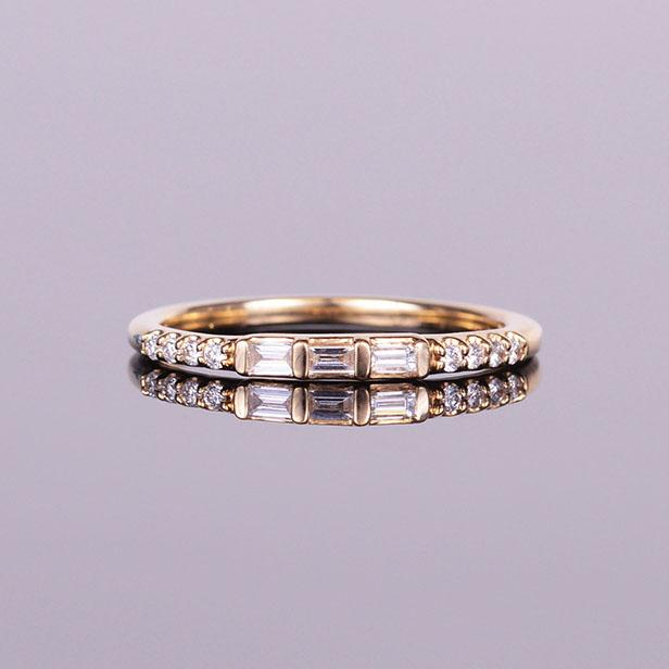 Diamond Anniversary Baguette Band Yellow Gold